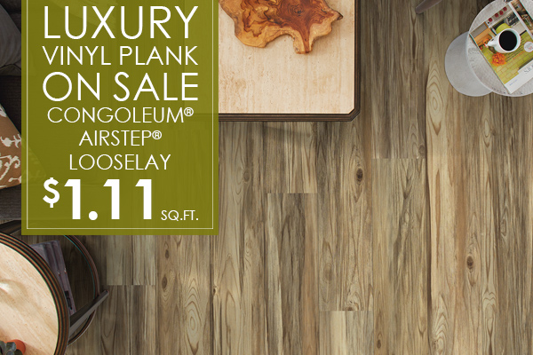 Luxury Vinyl Plank On Sale! Congoleum® Airstep® Looselay $1.11 sq.ft. at J & S Flooring in Georgetown, SC.